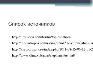 Список источников http://uralistica.com/forum/topics/izhora http://top-antropos.