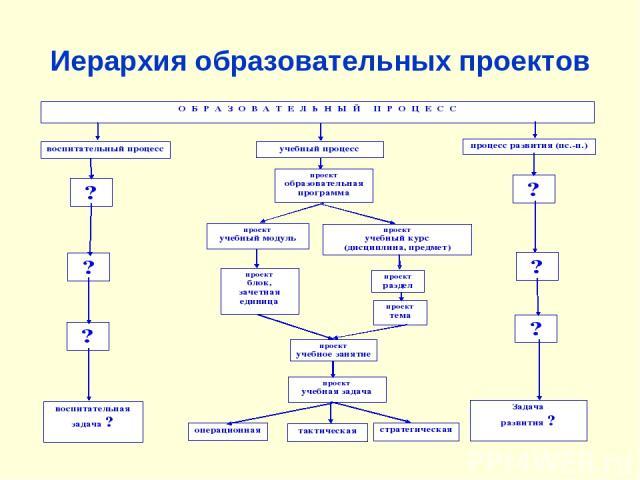 Иерархия образовательных проектов