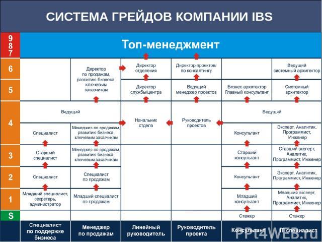 СИСТЕМА ГРЕЙДОВ КОМПАНИИ IBS