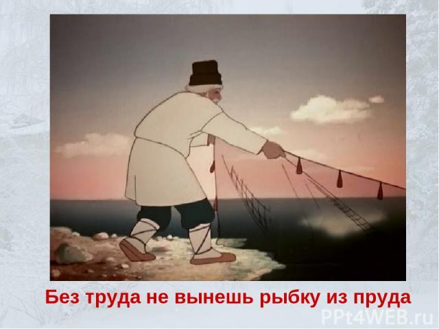 Без труда не вынешь рыбку из пруда
