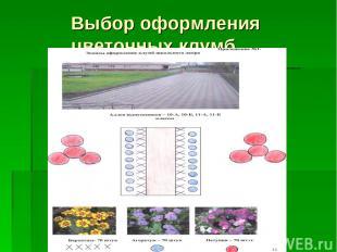 Выбор оформления цветочных клумб