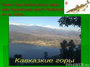 Какие горы протянулись через всю территорию края? Покажите их на карте. 6
