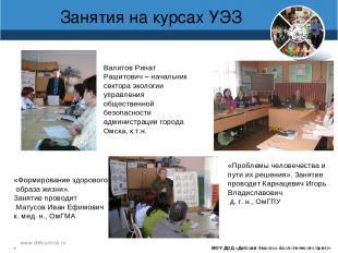www.debcomsk.ru Занятия на курсах УЭЗ МОУ ДОД «Детский Эколого-биологический Цен