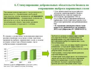 6. Стимулирование добровольных обязательств бизнеса по сокращению выброса парник