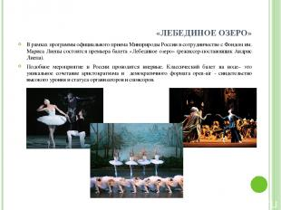 «ЛЕБЕДИНОЕ ОЗЕРО» В рамках программы официального приема Минприроды России в сот