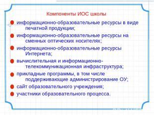 информационно-образовательные ресурсы в виде печатной продукции; информационно-о