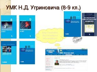 УМК Н.Д. Угриновича (8-9 кл.) http://metodist. lbz.ru/authors/ informatika/1/
