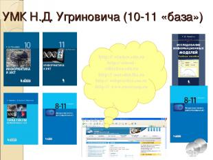 УМК Н.Д. Угриновича (10-11 «база») http:// window.edu.ru http:// school-collecti