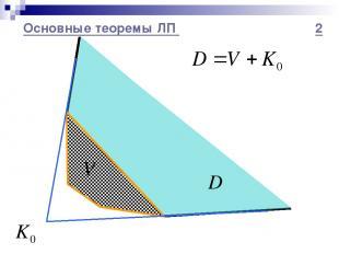 Основные теоремы ЛП 2