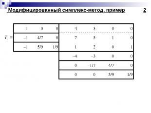 Модифицированный симплекс-метод, пример 2