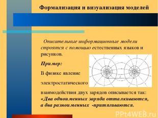 * Описательные информационные модели строятся с помощью естественных языков и ри