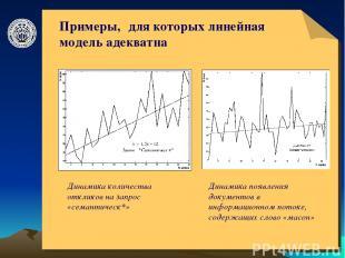 © ElVisti * Примеры, для которых линейная модель адекватна Динамика количества о