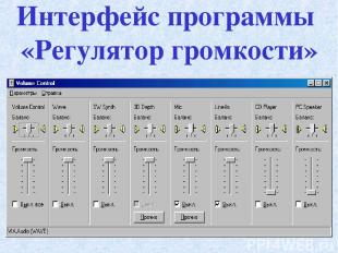 Интерфейс программы «Регулятор громкости»