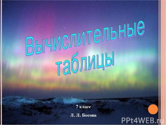 7 класс Л. Л. Босова