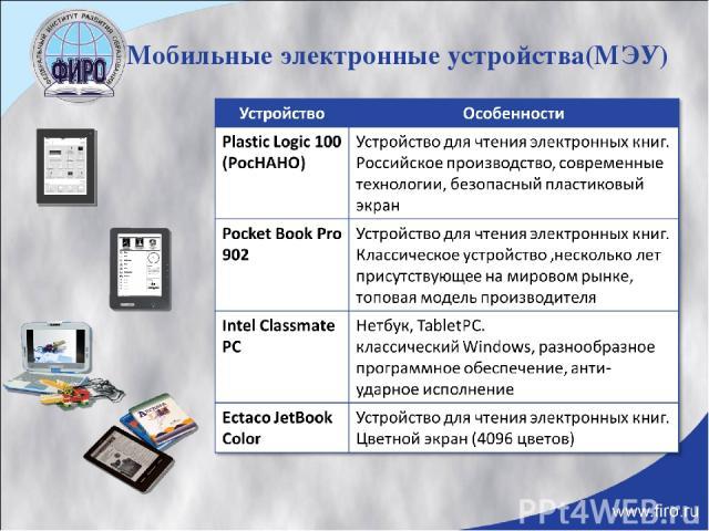 Мобильные электронные устройства(МЭУ)