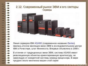 Линия серверов IBM AS/400 (современное название iSeries) явилась итогом эволюции