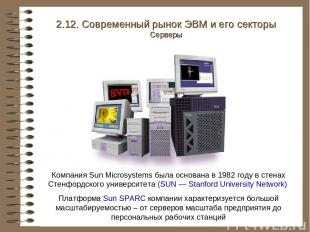 Компания Sun Microsystems была основана в 1982 году в стенах Стенфордского униве