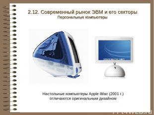 Настольные компьютеры Apple iMac (2001 г.) отличаются оригинальным дизайном 2.12
