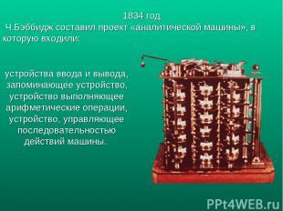 устройства ввода и вывода, запоминающее устройство, устройство выполняющее арифм