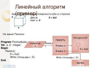 Домашнее задание Читать параграф 4.2.1 учебника. Выучить: определение линейного