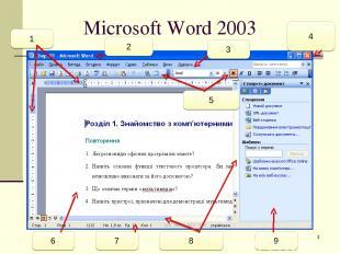 * Microsoft Word 2003 6 7 8 9 1 2 3 5 4