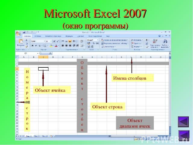Microsoft Excel 2007 (окно программы)