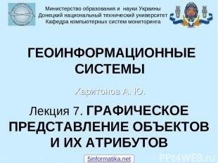 Лекция 7. ГРАФИЧЕСКОЕ ПРЕДСТАВЛЕНИЕ ОБЪЕКТОВ И ИХ АТРИБУТОВ Харитонов А. Ю. Мини