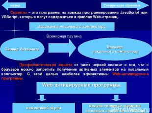 Скрипты – это программы на языках программирования JavaScript или VBScript, кото