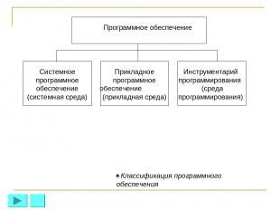 Программное обеспечение Системное программное обеспечение (системная среда) Прик