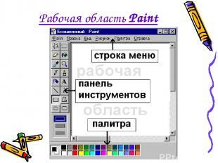 Рабочая область Paint