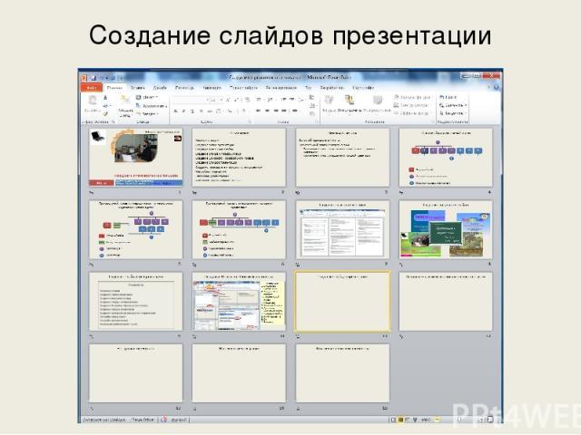 Создание слайдов презентации