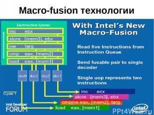Macro-fusion технологии