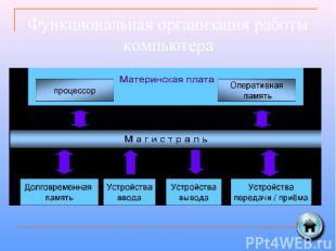 Функциональная организация работы компьютера