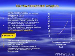 Математическая модель Теперь начнем строить математическую модель, т.е. найдем з