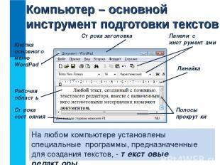 На любом компьютере установлены специальные программы, предназначенные для созда