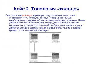 Кейс 2. Топология «кольцо» Для топологии «кольцо» характерно отсутствие конечных