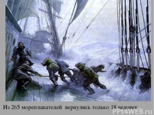 У апр Из 265 мореплавателей вернулись только 18 человек