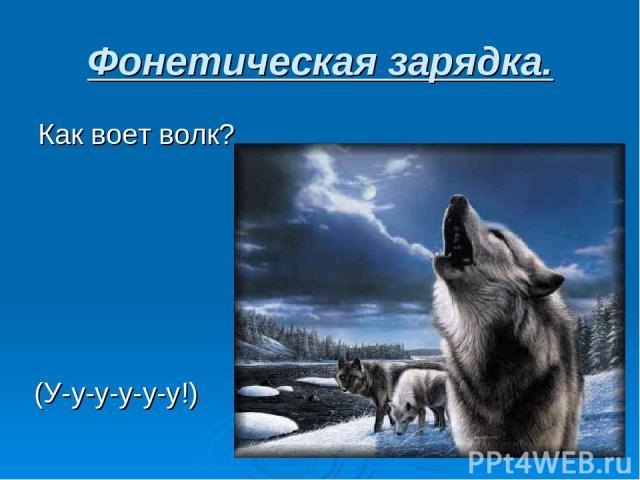 Фонетическая зарядка. Как воет волк? (У-у-у-у-у-у!)