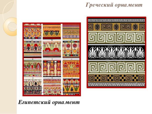 Греческий орнамент Египетский орнамент