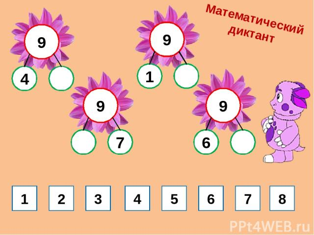 9 9 9 9 4 7 1 6 1 4 5 6 7 2 3 8 Математический диктант