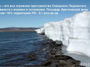 Арктика – это все огромное пространство Северного Ледовитого океана вместе с мор