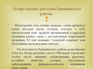 Фитотерапия, или лечение травами,- самая древняя и самая молодая наука, которая