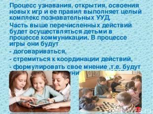 Процесс узнавания, открытия, освоения новых игр и ее правил выполняет целый комп