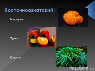 * Мандарин Хурма Конопля Костюк Алёна 11-Б класс