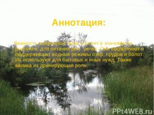 Аннотация: Важность выбранной темы состоит в значимости родников для питания рек