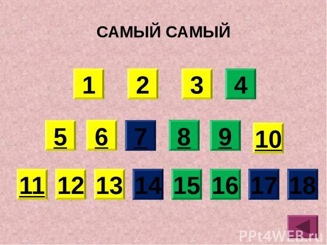 11 САМЫЙ САМЫЙ 5 1 12 13 14 15 16 17 18 6 10 8 9 7 2 3 4