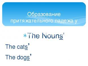 The Nouns' The cats' The dogs' Образование притяжательного падежа у существитель