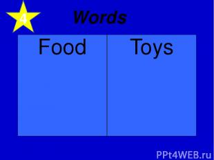 4 Words Food Toys