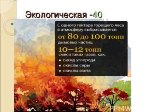 Экологическая -40 Какое влияние лесные пожары оказывают на атмосферу?