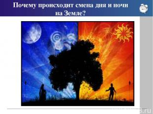 Почему происходит смена дня и ночи на Земле?